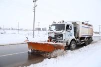 ALPARSLAN TÜRKEŞ - Aksaray'da 300 Kişilik Ekiple Kar Kürüme Çalışması Devam Ediyor