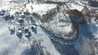 Bolu Dağı'nın Eşsiz Kar Manzarası Havadan Görüntülendi