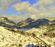 KAÇıŞ - Eğrigöz Kalesi Ve İkitaş Kanyonu'na Beyaz Örtü