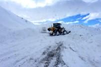 YARIŞ - Kar, Fırtına Ve Tipi Bazı Yolları Ulaşıma Kapattı
