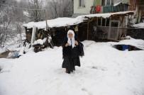 (Özel) 85 Yaşında...Okuma Öğrenmek İçin Kar Kış Demiyor Her Gün 2 Kilometre Yürüyor