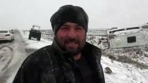 Şanlıurfa'da Öğretmenleri Taşıyan Minibüs Devrildi Açıklaması 6 Yaralı