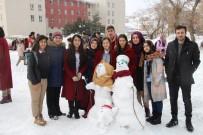 Yüksekova'da Kardan Adam Yarışması