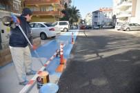 BİSİKLET YOLU - Alanya'da Bisiklet Yolları Tamamlanma Aşamasına Geldi