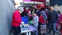 Kızılay'dan Amik Ovası'nda Sel Felaketinden Etkilenen Vatandaşlara Yemek Yardımı