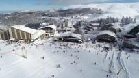 Uludağ'da Kayak Keyfi Drone İle Görüntülendi