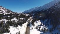 Beyaza Bürünen Toros Dağları Drone İle Görüntülendi
