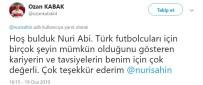 NURI ŞAHIN - Ozan Kabak'tan Nuri Şahin'e Cevap