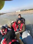Su Basan Bahçe Evinde Mahsur Kalan Suriyeliler AFAD Ekiplerince Botla Kurtarıldı