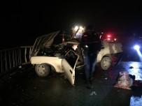 ALIYEV - Bariyerlere Çarpan Şahin Marka Otomobil Kağıt Gibi Yırtıldı