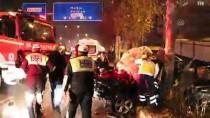 FEVZI ÇAKMAK - Denizli'de Otomobil Ağaca Çarptı Açıklaması 1 Ölü, 3 Yaralı