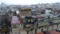 Sağır Han'da  Bulunan Kaçak Yapıların Yıkımı Havadan Görüntülendi