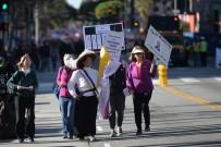 LOS ANGELES - ABD Başkanı Donald Trump'ın Seçildiği 2017 Yılında Başlayan Kadın Yürüyüşü 'Nün Bu Sene Üçüncüsü Gerçekti
