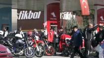 İSTIKLAL MARŞı - Adıyaman'da Motor Grubu Doğu Türkistan İçin Toplandı