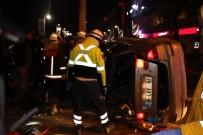 KıZıLAY - Otomobil Takla Atıp Polis Araçlarına Çarptı Açıklaması 3 Yaralı