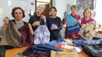 Burhaniyeli Kadınlar Market Çantası Üretiyor