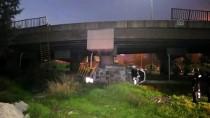 Otomobil Köprülü Kavşaktan Düştü Açıklaması 4 Yaralı