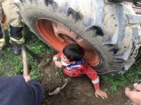 Traktörün Tekerine Sıkışan Çocuğun İnanılmaz Kurtuluşunu Baba Anlattı