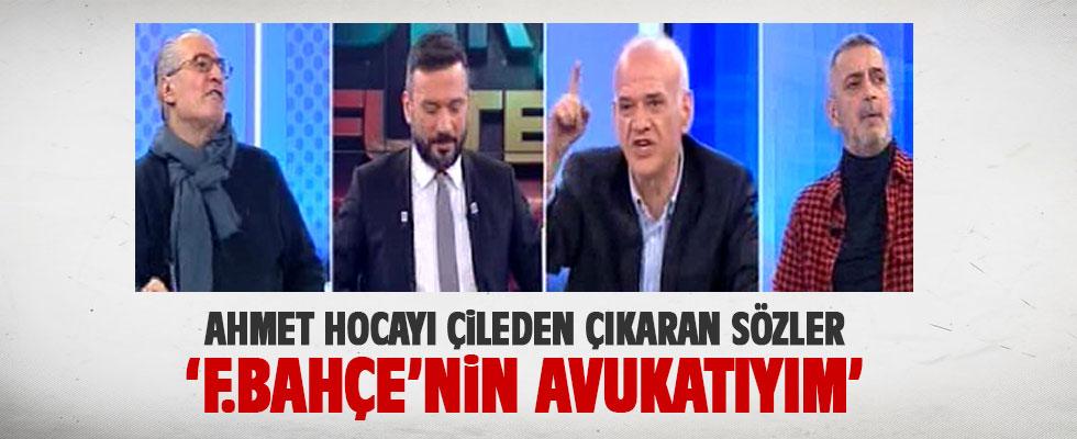 Ahmet Çakar canlı yayında çıldırdı: 'F.Bahçe'nin avukatıyım'