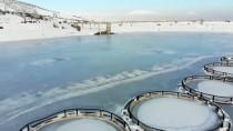 Erzincan'daki Göyne Sulama Barajı Buz Tuttu