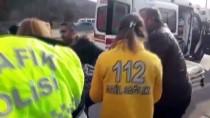 Karabük'te, Devrilen Otomobildeki Çift Yaralandı
