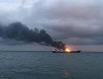 Kerç Boğazı'nda içinde Türklerin de bulunduğu iki gemi alev aldı: 14 ölü