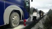 Muğla'da Seyir Halindeki Yolcu Otobüsünde Yangın Çıktı
