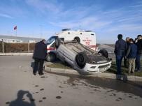 Aksaray'da Otomobil Takla Attı Açıklaması 1 Yaralı