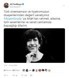 AYŞEN GRUDA - İstanbul Valisi Yerlikaya'dan Ayşen Gruda İçin Taziye Mesajı
