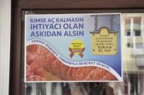 AHMET OKUR - Muhtar Adayından 'Askıda Et' Ve 'Askıda Ekmek' Kampanyası