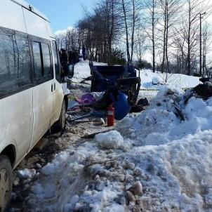Ordu'da Minibüsle Patpat Çarpıştı Açıklaması 1 Ölü, 1 Yaralı