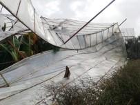 Anamur'da Fırtına Ve Hortum Seraları Vurdu