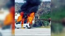 KAYNAR - Osmaniye'de Seyir Halindeki Kamyonet Yandı