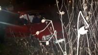 Alkollü Sürücü Uçtuğu Arazide Takla Atarak Durabildi