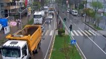 ÇARPMA ANI - Ordu'daki Trafik Kazaları MOBESE Kameralarında