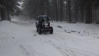 Kazdağlarının Yüksek Kesimlerinde Yoğun Kar Yağışı Başladı