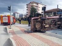 BAĞBAŞı - Yaşlı Adam Takla Atan Otomobilde Ölümden Döndü