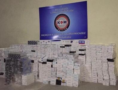 Bolu'da TEM'de Kaçak Sigara Operasyonu