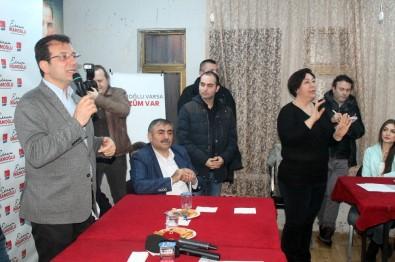 CHP'li Başkan Adayı İmamoğlu, İşitme Engellilerle Bir Araya Geldi