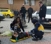 AHMET ŞAHIN - Emet'te Motosiklet Kazası Açıklaması 1 Yaralı