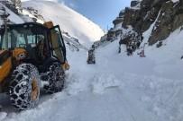 Gümüşhane'de Çığ Nedeniyle Kapanan Köy Yolu Ulaşıma Açıldı