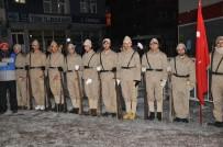 YUSUF İZZET KARAMAN - Kar Yağışı Altında 90 Bin Şehit İçin Meşaleli Yürüyüş
