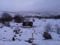 Karlı Yolda 4 Takla Atan Araçtan Sağ Çıktı