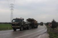 Kilis'ten Fırat'ın Doğusuna Fırtına Obüs İle Tank Sevkıyatı