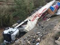 TIR ŞOFÖRÜ - Selçuk'ta Tır Şarampole Uçtu, 1 Kişi Ağır Yaralandı