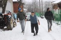 İŞ KAZASI - 91 yaşındaki Şerif dede kara kışa meydan okuyor