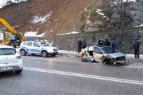 Gümüşhane'de Gizli Buzlanma Kazaları Da Beraberinde Getirdi