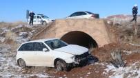 Lastiği Patlayan Otomobil Şarampole Devrildi Açıklaması 1 Yaralı
