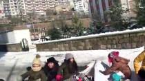 NAYLON POŞET - Yozgat'ta Çocuklar Karın Keyfini Kızakla Çıkardı