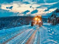 Bursa'da Karla Mücadele Sürüyor